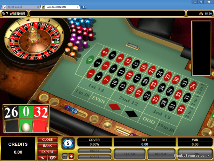 32Red Roulette Screenshot