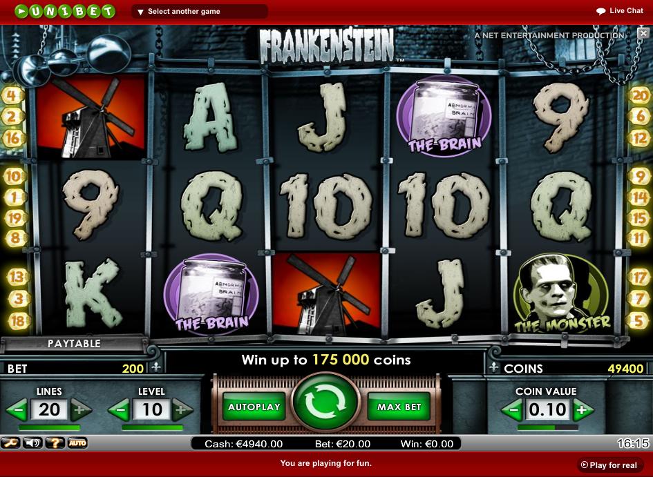 Unibet casino slots casino wass